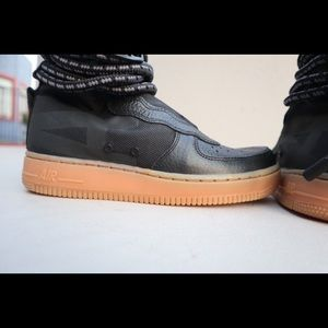 Nike Shoes | Womens Air Force 1 High Black Gumdead Stock